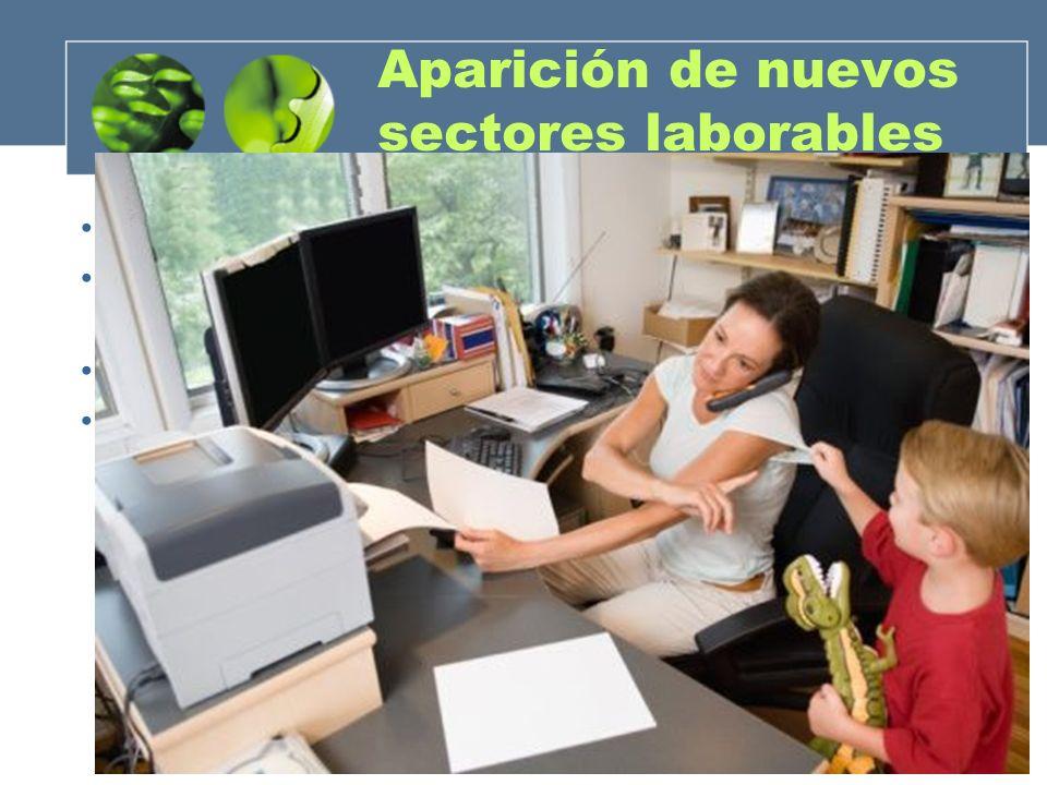 Aparición de nuevos sectores laborables