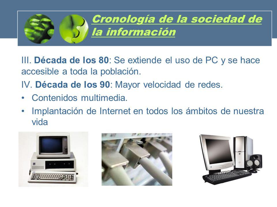 Cronología de la sociedad de la información