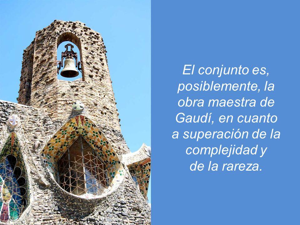 El conjunto es, posiblemente, la. obra maestra de. Gaudí, en cuanto. a superación de la. complejidad y.