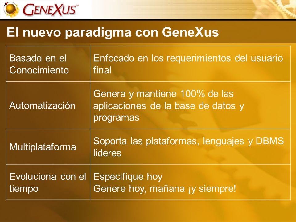 El nuevo paradigma con GeneXus