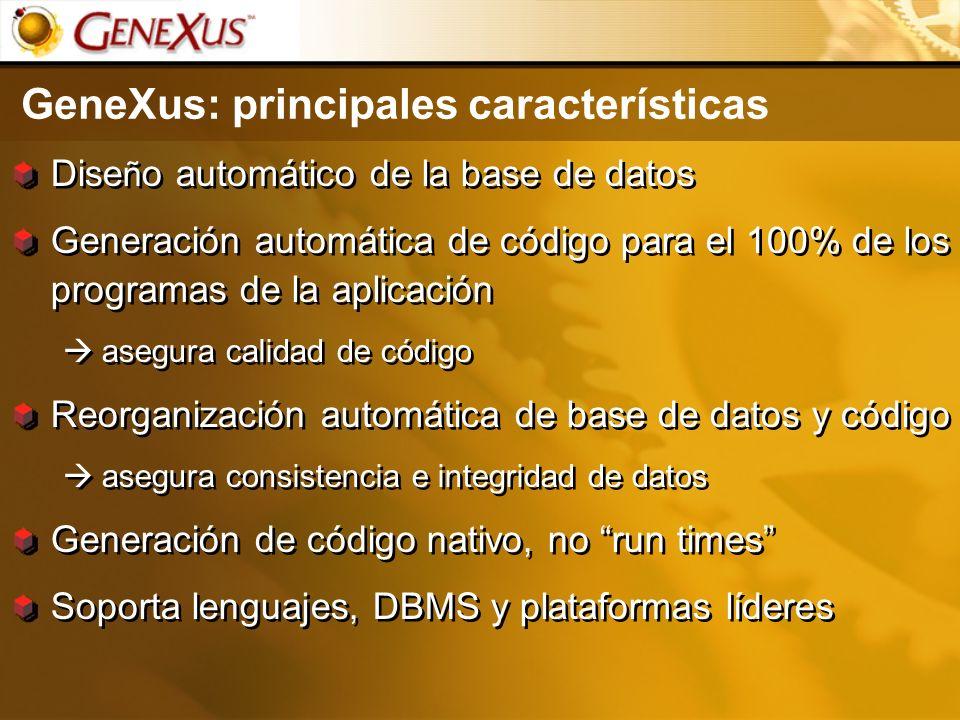 GeneXus: principales características