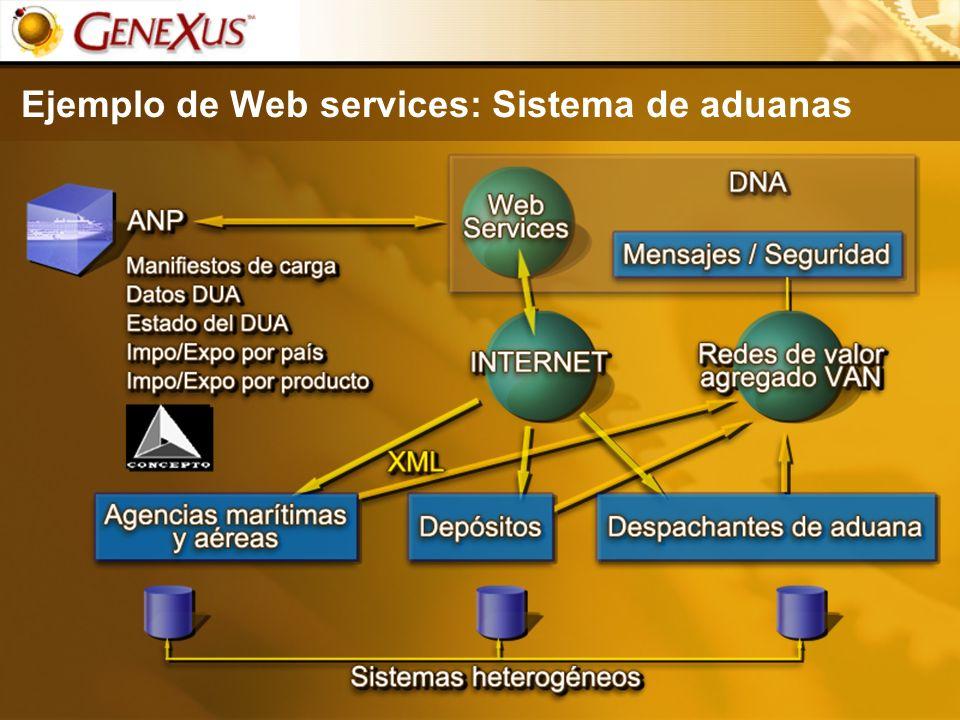 Ejemplo de Web services: Sistema de aduanas
