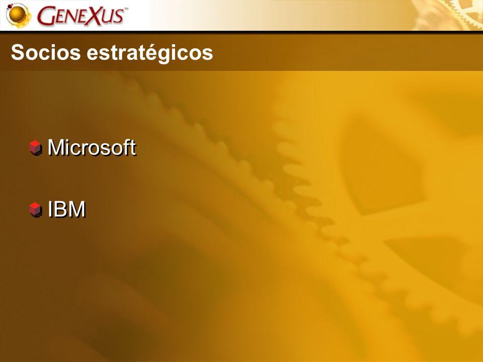 Socios estratégicos Microsoft IBM