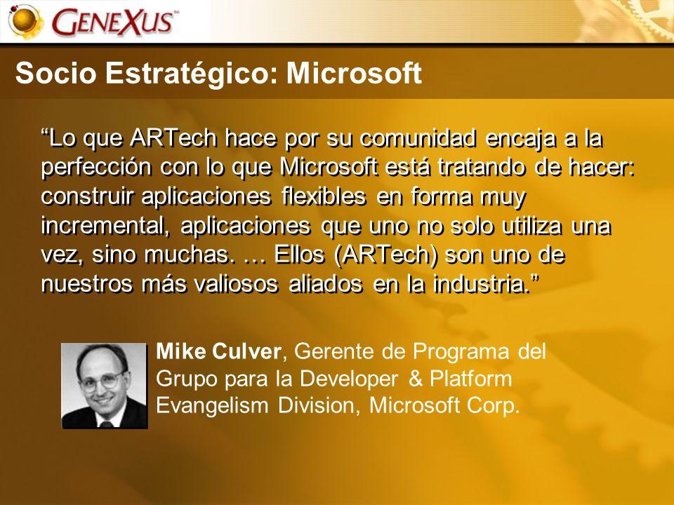 Socio Estratégico: Microsoft