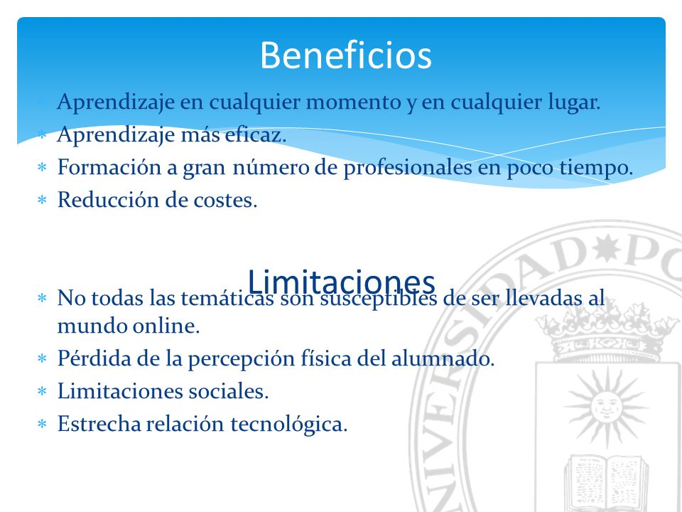 Beneficios Limitaciones