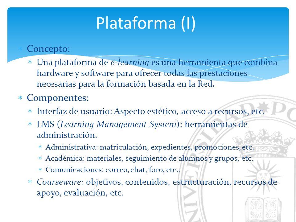 Plataforma (I) Concepto: Componentes: