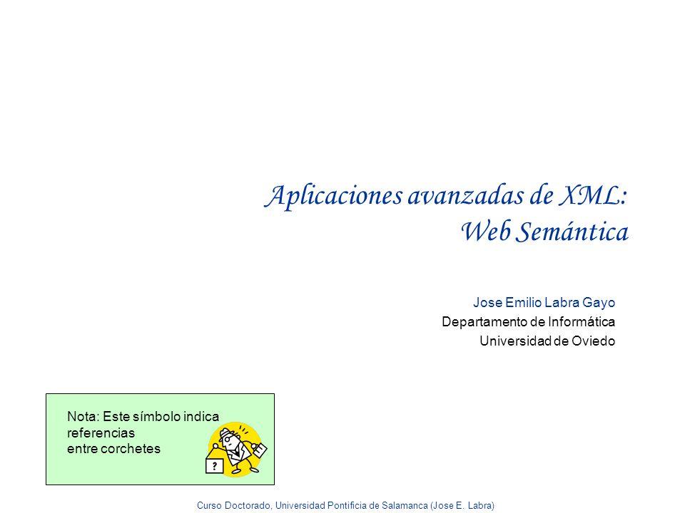 Aplicaciones avanzadas de XML: Web Semántica