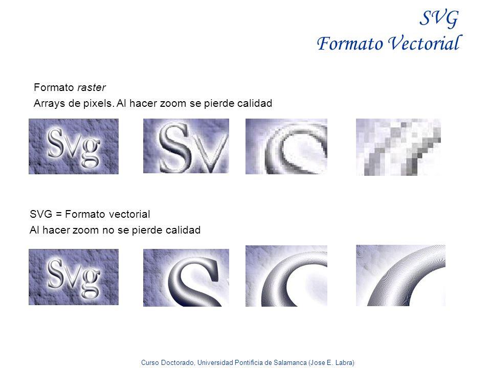 SVG Formato Vectorial Formato raster