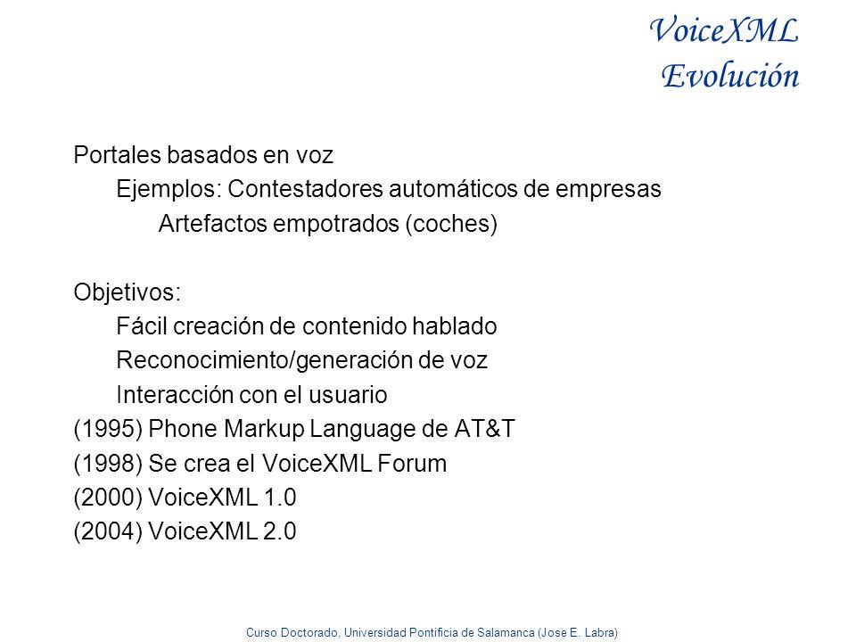VoiceXML Evolución Portales basados en voz