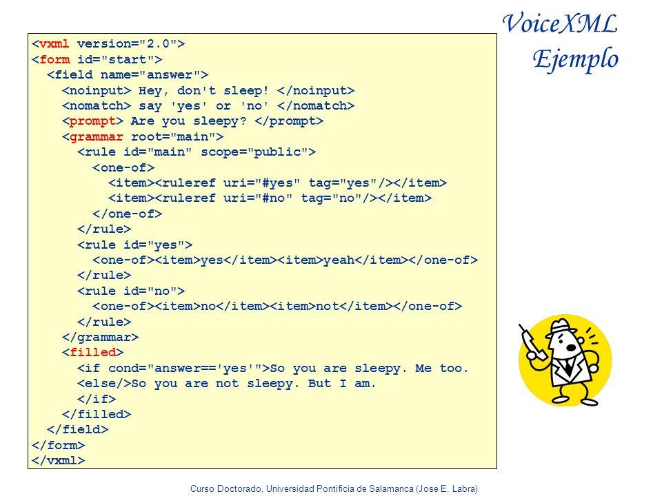 VoiceXML Ejemplo <vxml version= 2.0 > <form id= start >