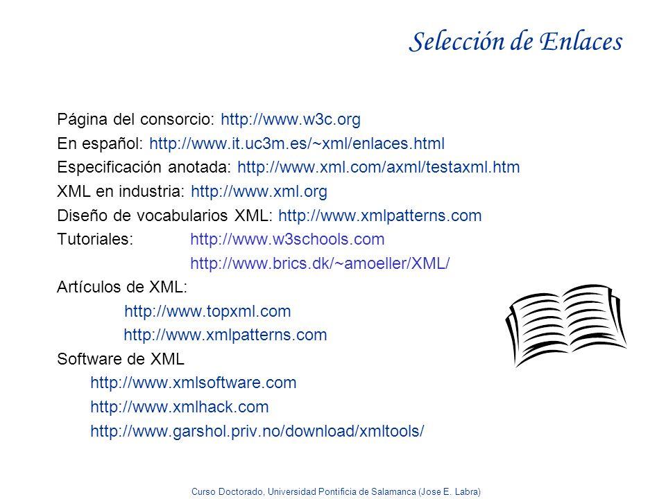 Selección de Enlaces Página del consorcio: http://www.w3c.org