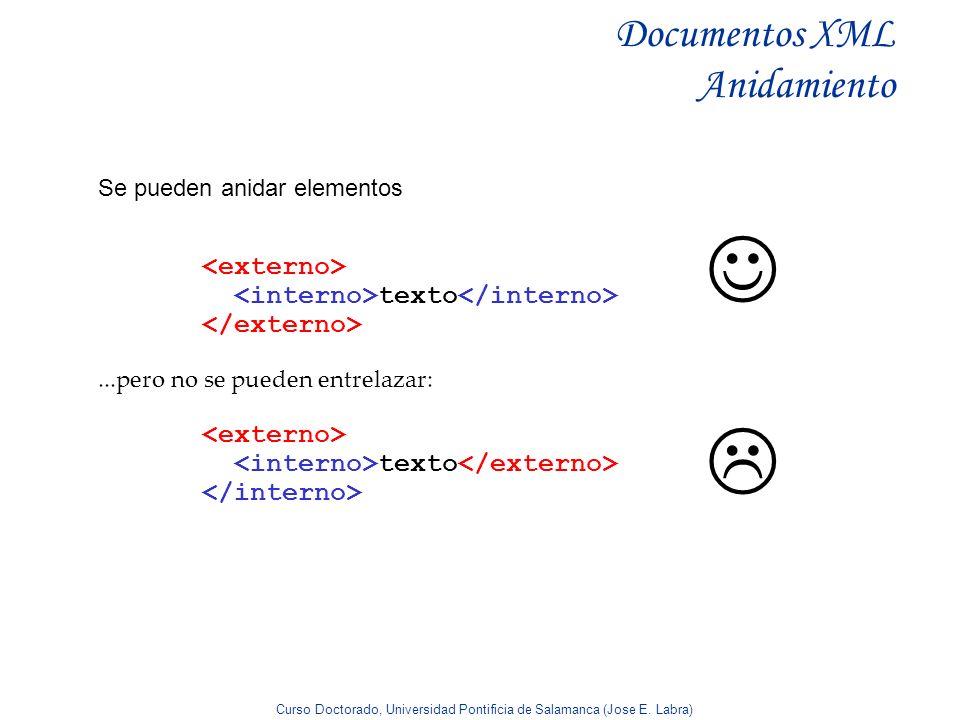Documentos XML Anidamiento