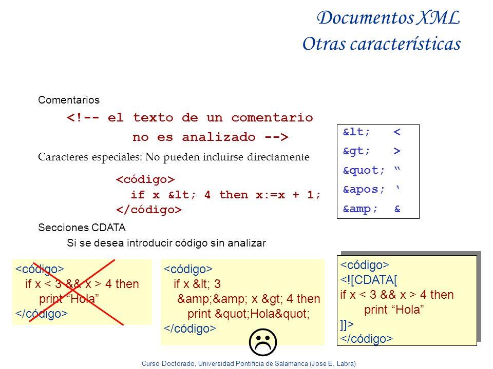 Documentos XML Otras características