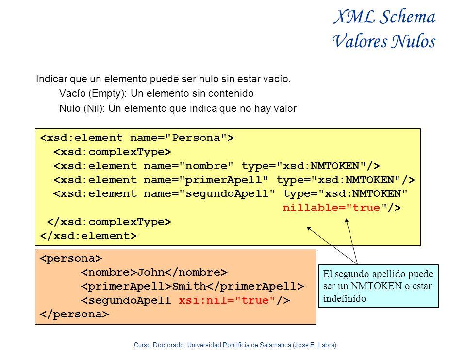 XML Schema Valores Nulos