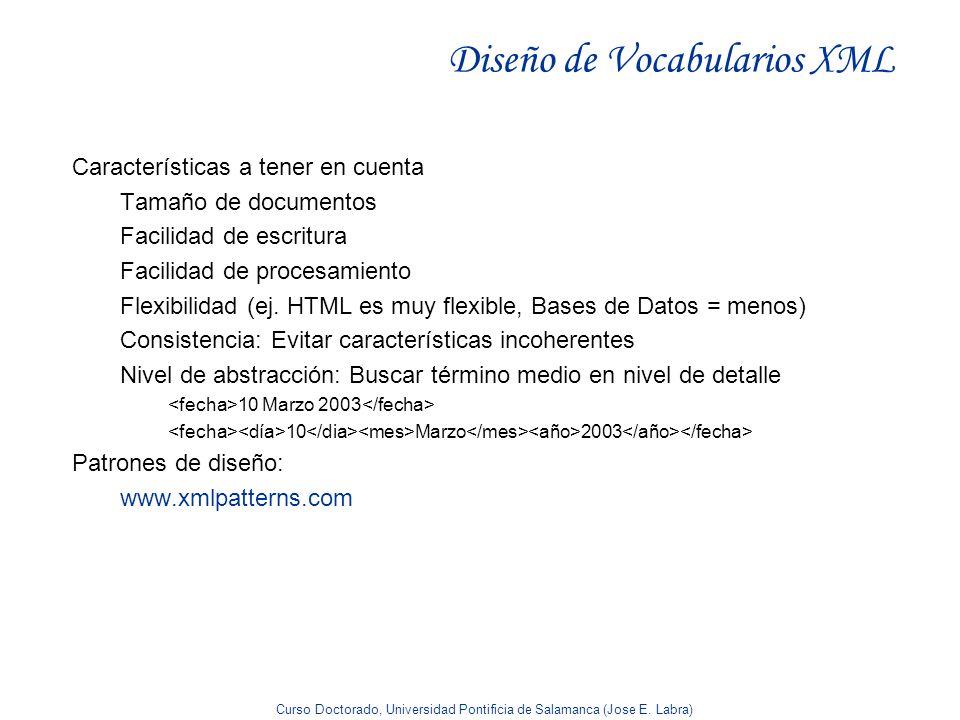 Diseño de Vocabularios XML