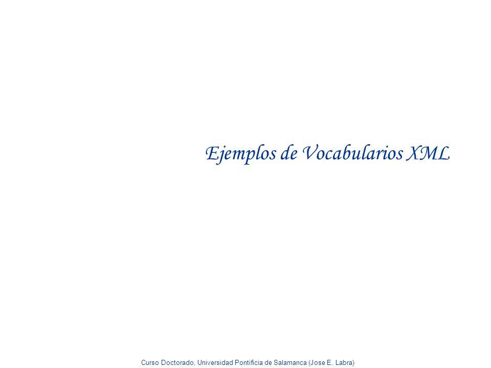 Ejemplos de Vocabularios XML