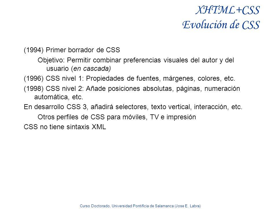 XHTML+CSS Evolución de CSS