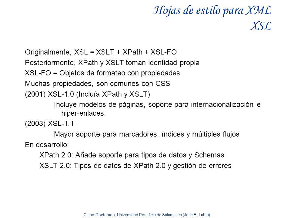 Hojas de estilo para XML XSL