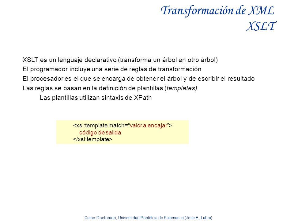 Transformación de XML XSLT