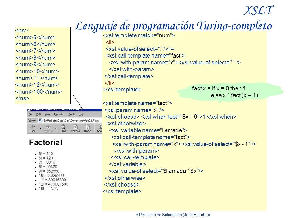 XSLT Lenguaje de programación Turing-completo