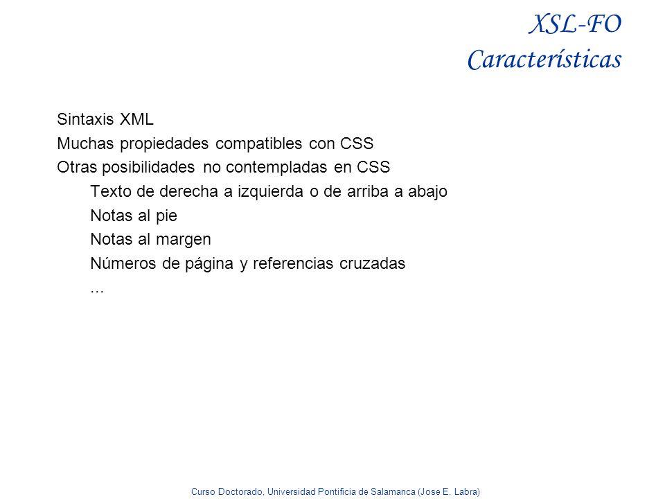 XSL-FO Características