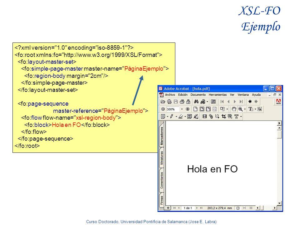 XSL-FO Ejemplo < xml version= 1.0 encoding= iso-8859-1 >