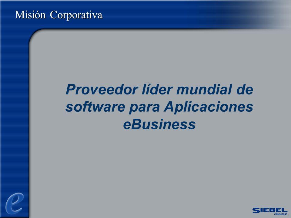 Proveedor líder mundial de software para Aplicaciones eBusiness