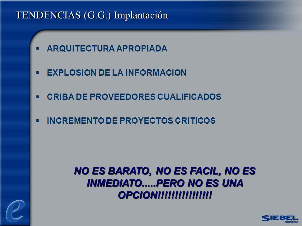 TENDENCIAS (G.G.) Implantación