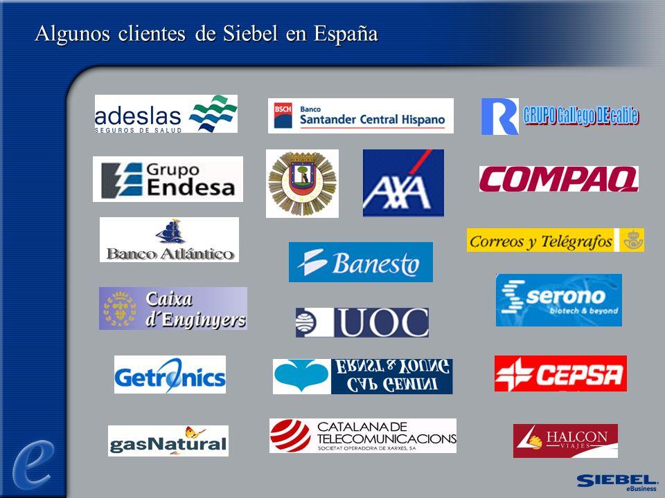 Algunos clientes de Siebel en España
