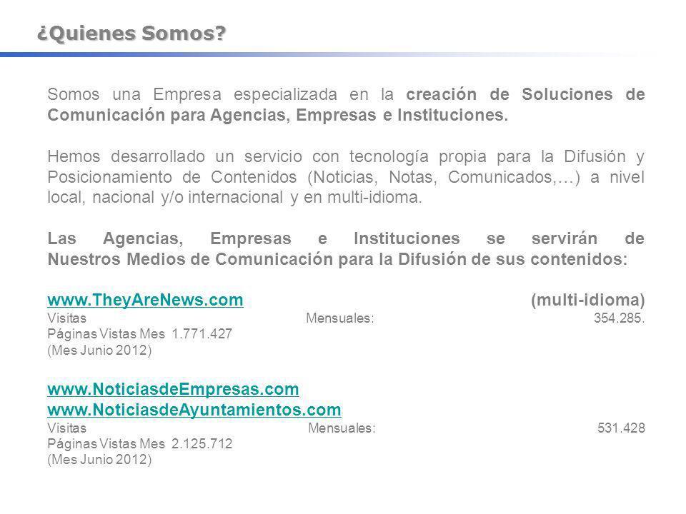 ¿Quienes Somos Somos una Empresa especializada en la creación de Soluciones de Comunicación para Agencias, Empresas e Instituciones.