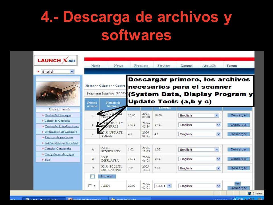 4.- Descarga de archivos y softwares