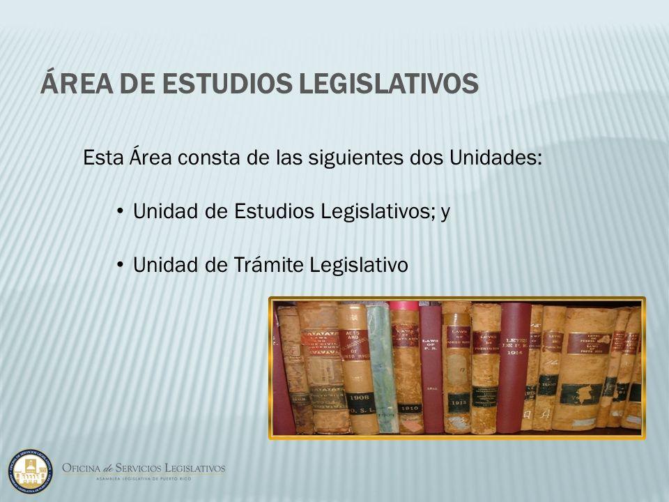 Área de Estudios Legislativos