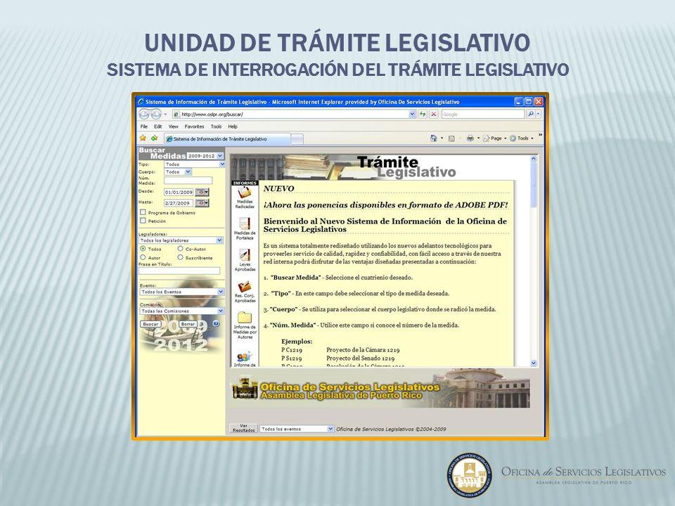 Unidad de Trámite Legislativo