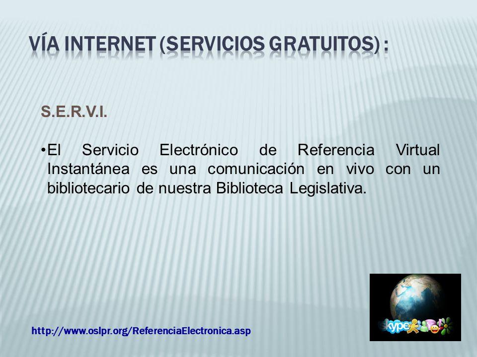 Vía internet (servicios Gratuitos) :