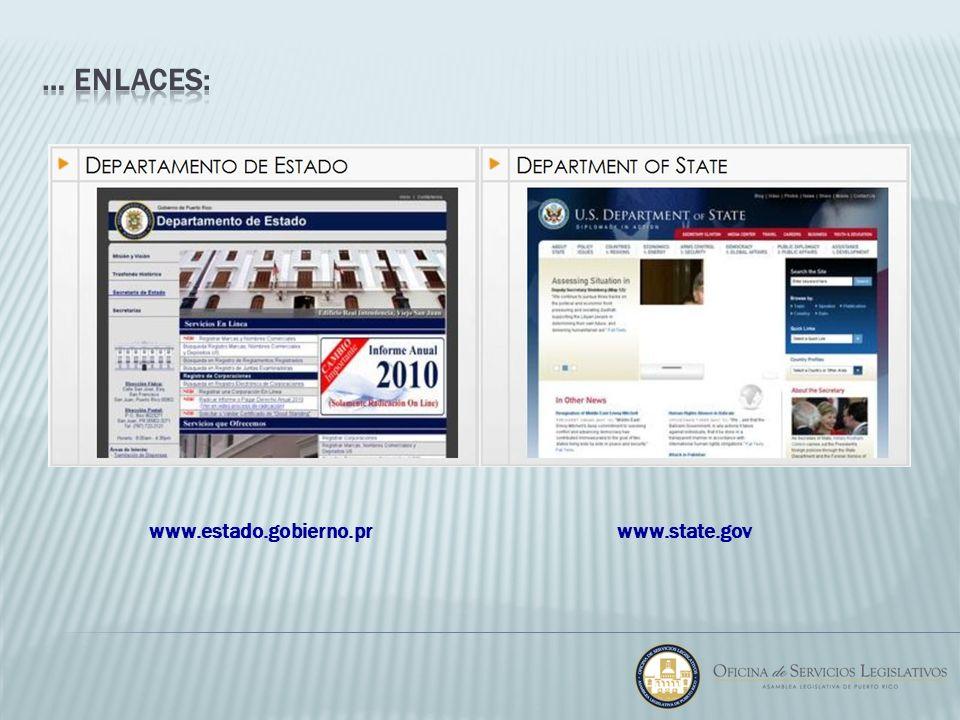 … enlaces: www.estado.gobierno.pr www.state.gov