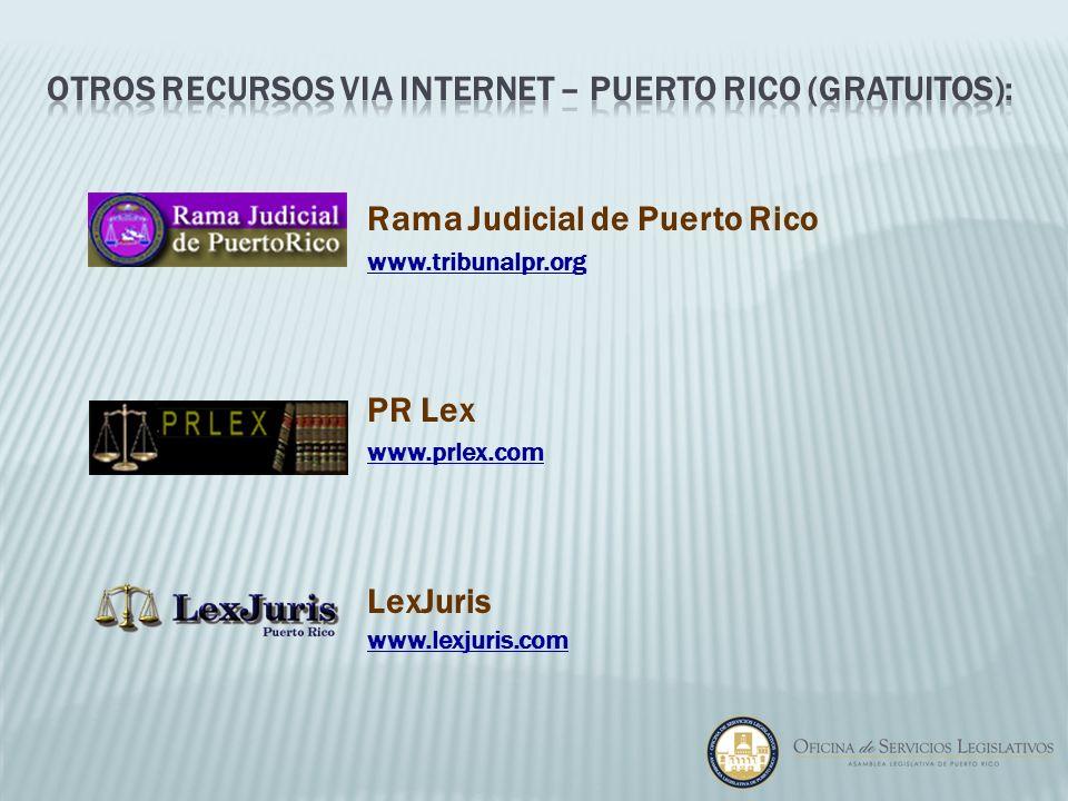 otros recursos via internet – puerto rico (gratuitos):