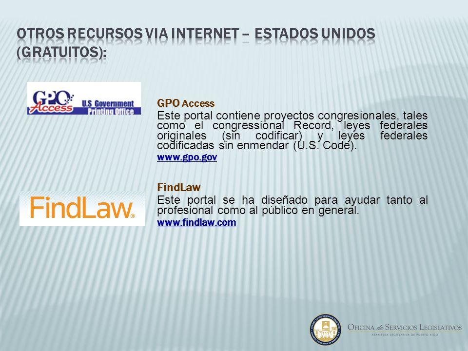 otros recursos via internet – Estados Unidos (gratuitos):