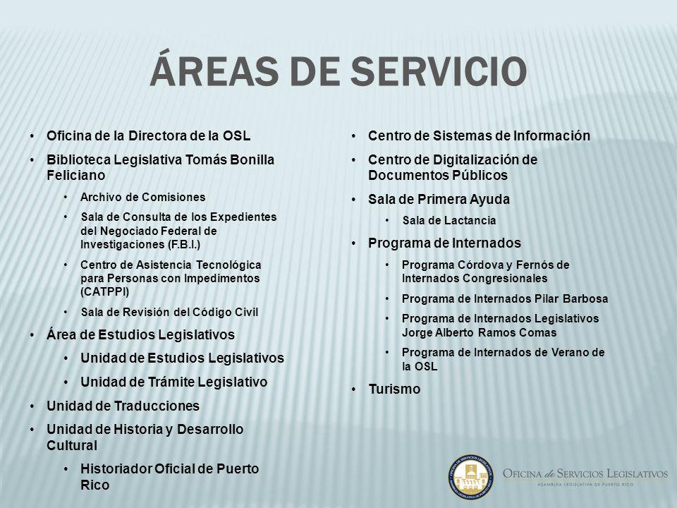 Áreas de Servicio Oficina de la Directora de la OSL