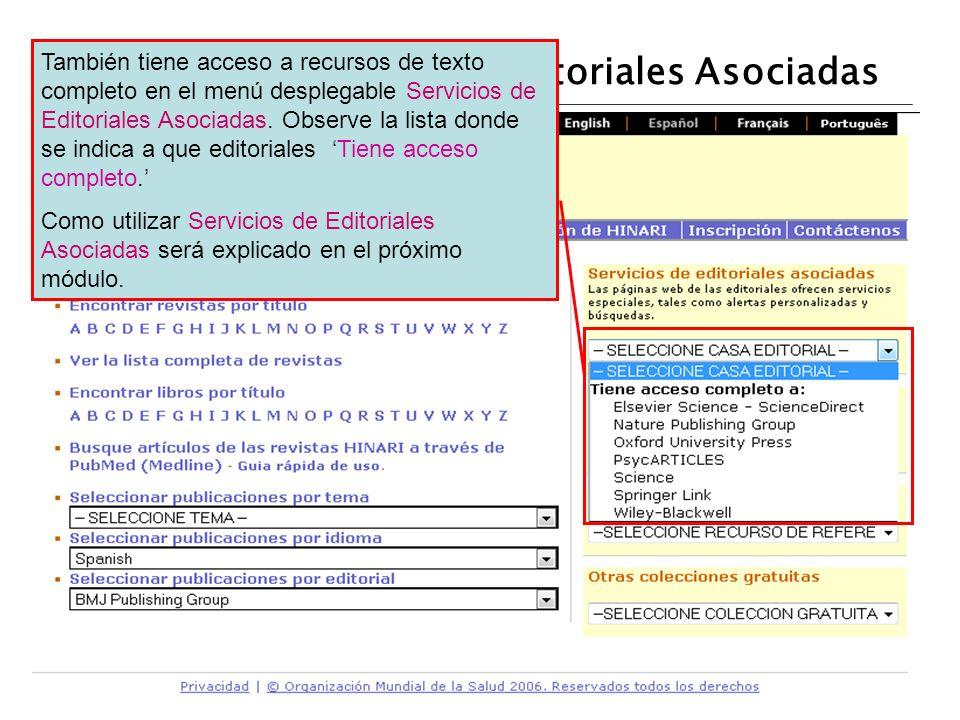 Servicios de la Web de Editoriales Asociadas