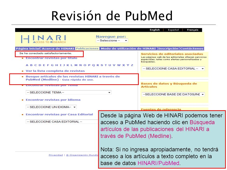 Revisión de PubMed
