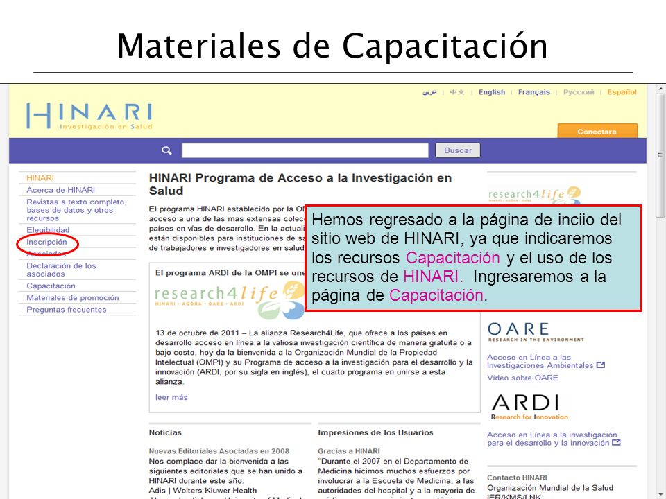 Materiales de Capacitación