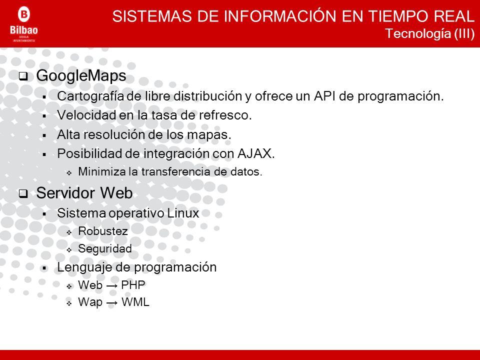 SISTEMAS DE INFORMACIÓN EN TIEMPO REAL Tecnología (III)