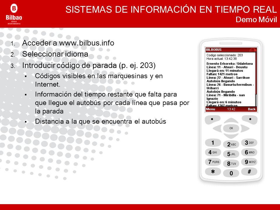 SISTEMAS DE INFORMACIÓN EN TIEMPO REAL Demo Móvil