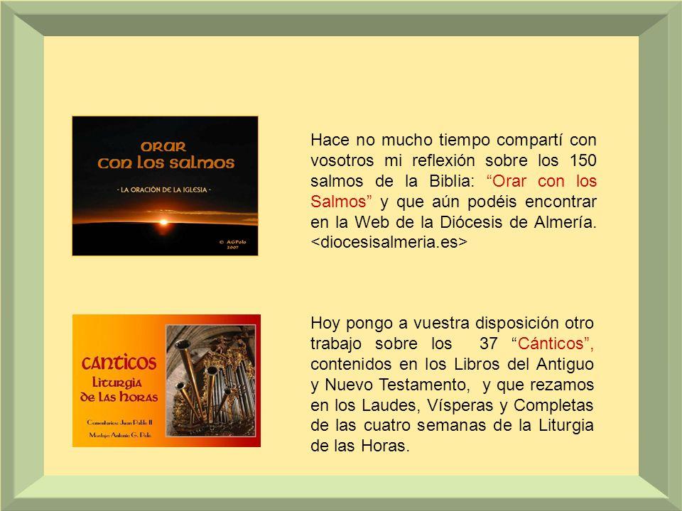 Hace no mucho tiempo compartí con vosotros mi reflexión sobre los 150 salmos de la Biblia: Orar con los Salmos y que aún podéis encontrar en la Web de la Diócesis de Almería. <diocesisalmeria.es>
