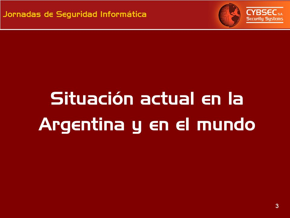 Situación actual en la Argentina y en el mundo