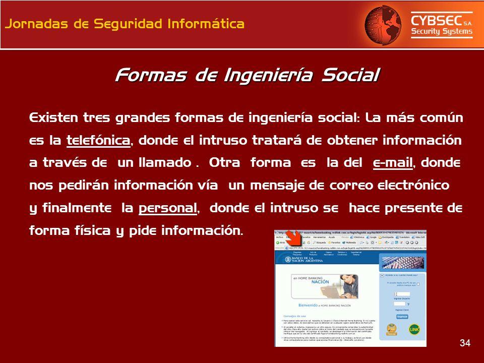 Formas de Ingeniería Social