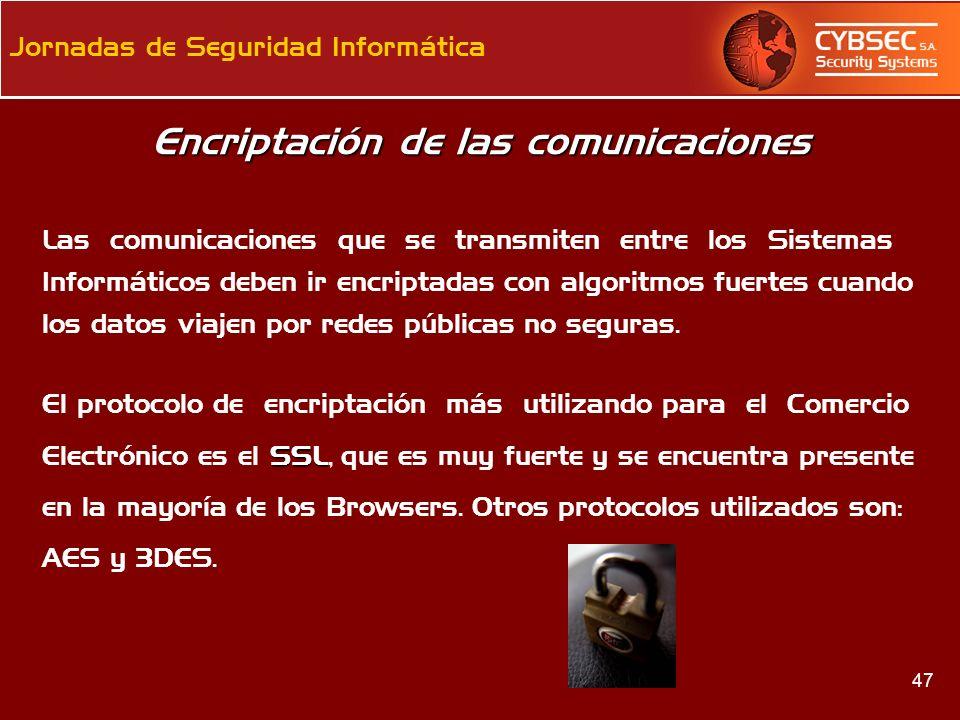 Encriptación de las comunicaciones