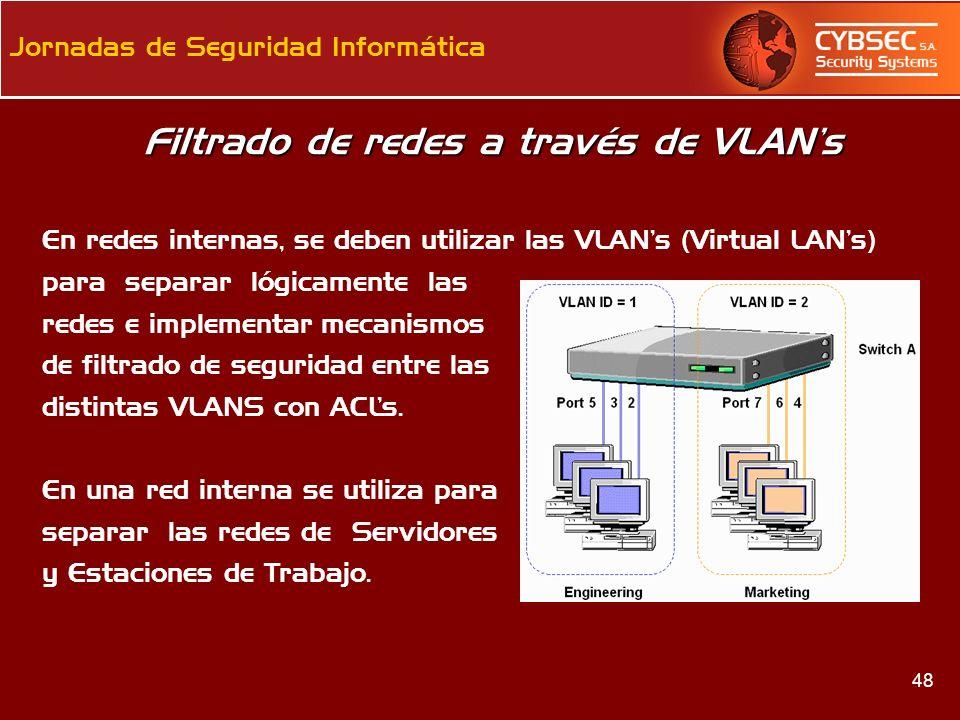Filtrado de redes a través de VLAN's