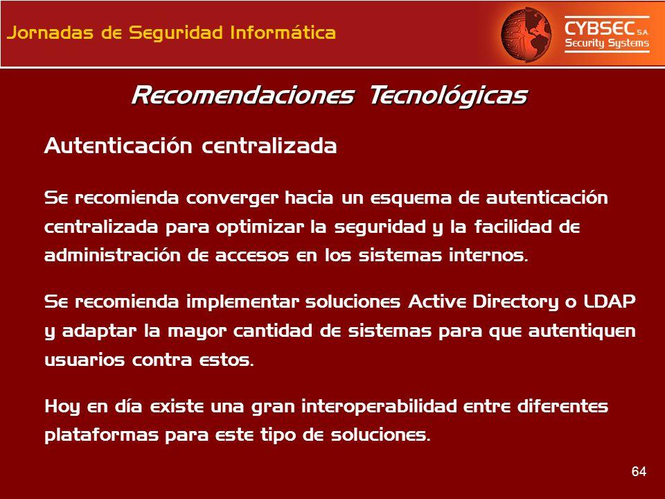 Recomendaciones Tecnológicas
