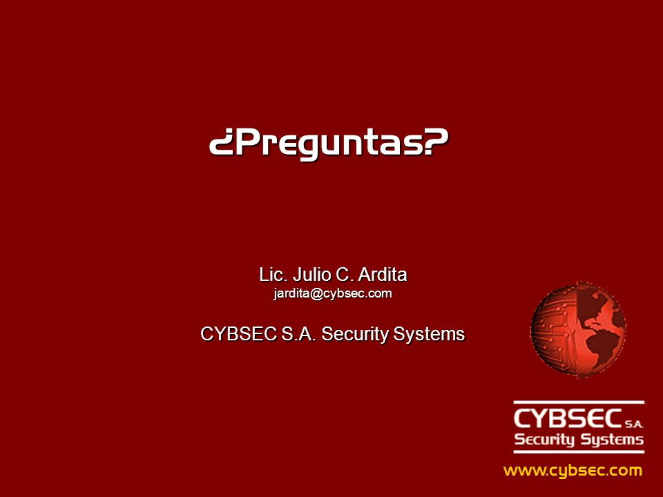 CYBSEC S.A. Security Systems